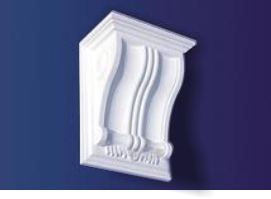Exotic White Decorative Corbels Carvings Fire-Proof for House