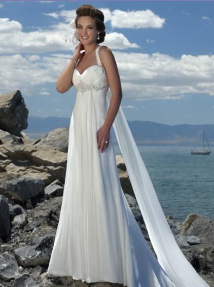China 2011 simple halter beach wedding dresses online for Halter wedding dresses beach
