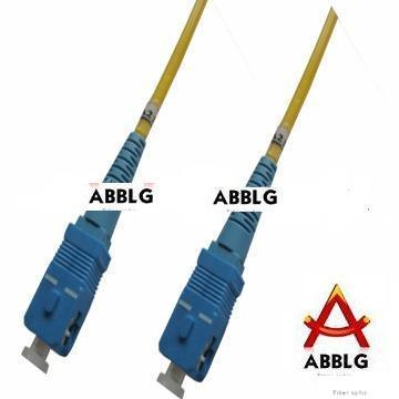 Fibre on Fiber Optic Patch Cord Sc Pc Sc Pc Sm Sx 3 0mm   China Fiber Optic