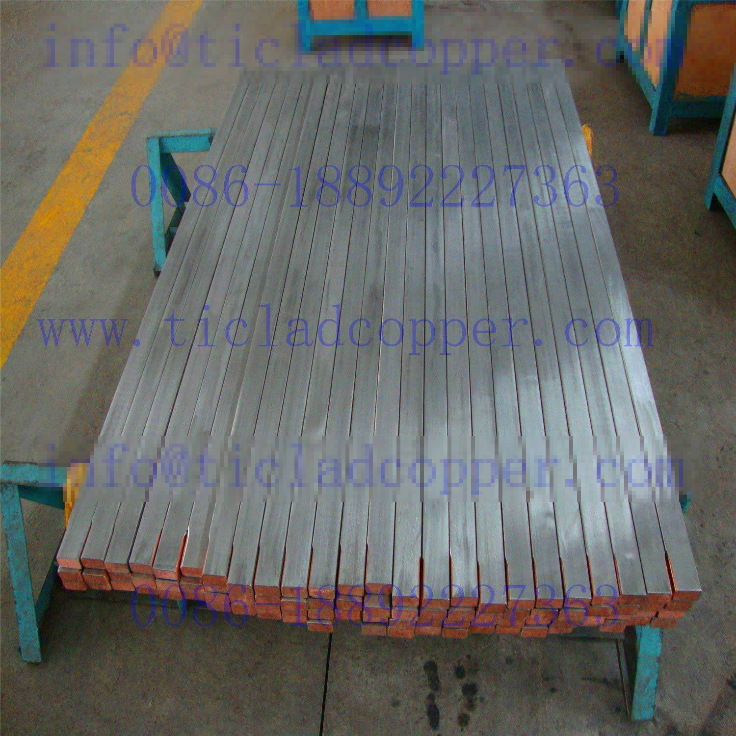 Ti Clad Copper Conductive Bus Bar Anode for Metallurgy Industry