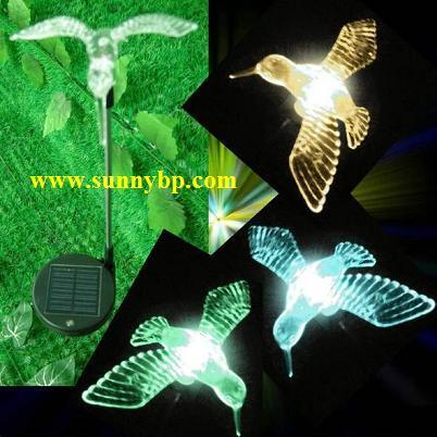 Couleur changing solar bird lighting pour le jardin for Lumiere de noel exterieur solaire