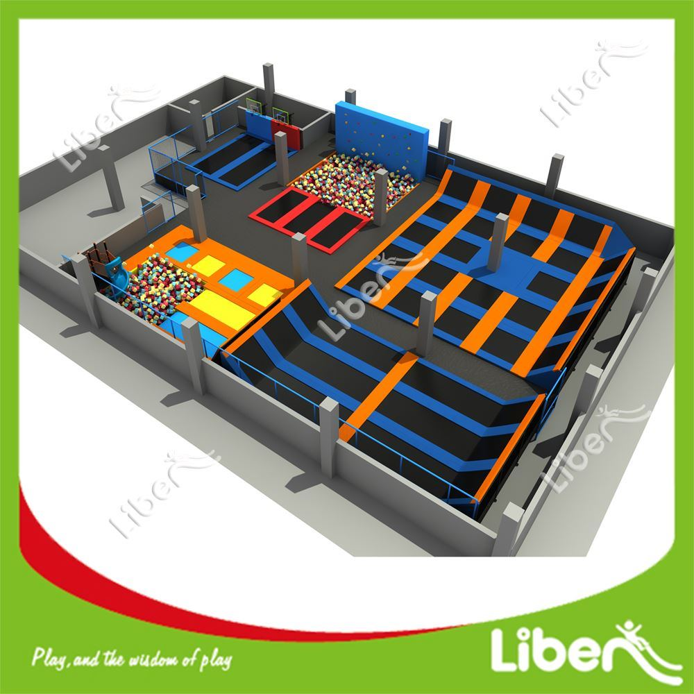 Sky Zone Commercial Indoor Big Trampoline Park