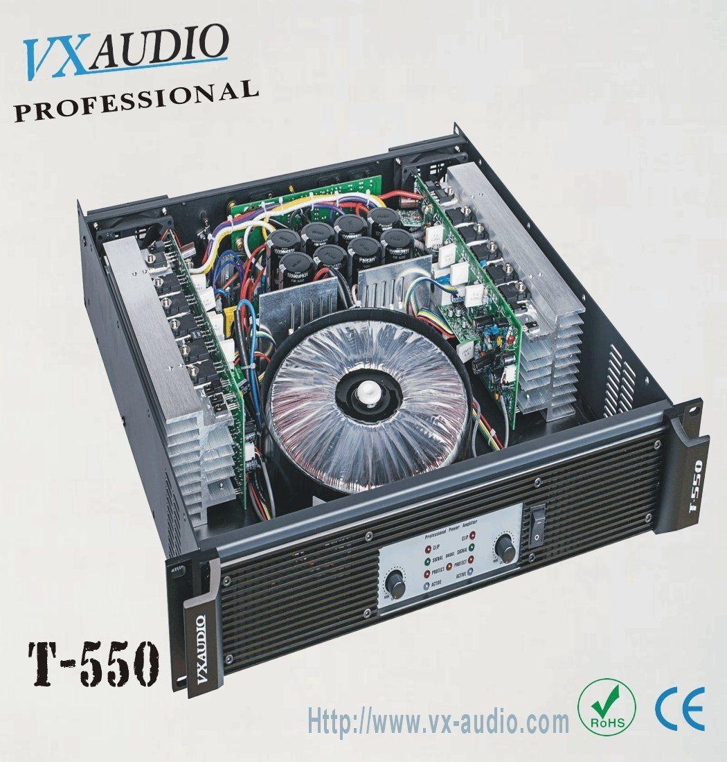 KTV High Quality 2 Channels Power Amplifier (T-550)