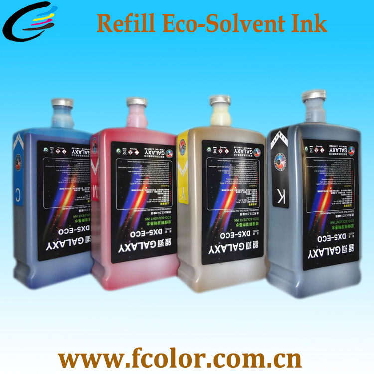 Quality Galaxy Eco Solvent Ink for Dx5 Dx7 Solvent Printer