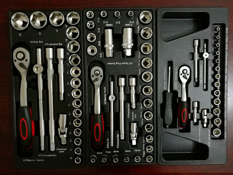 228PCS -6drawers Heavy Duty Trolley Tool Set (FY228A-1)