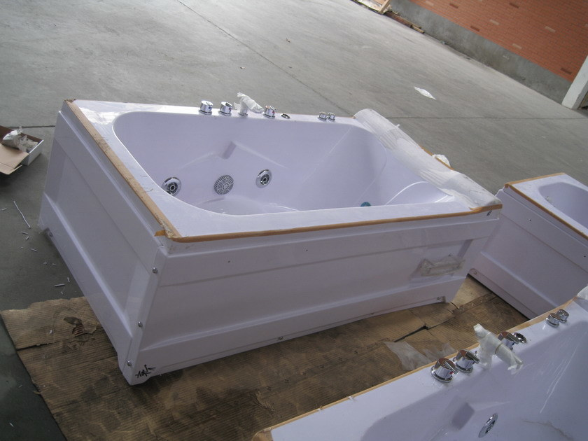Acrylic Corner Massage Tub with Pillow (CL-339)