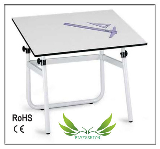 Wood Top Drafting Table with Metal Frame Drawing Desk (CT-45)