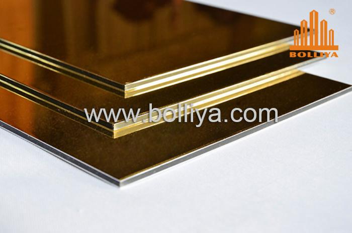 Acm Material Mirror Hairline Brushed Polyester PE Kynar 500 Nano PVDF Aluminium Composite Panel