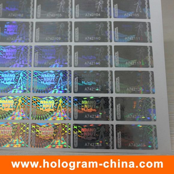 Holographic Transparent Laser Serial Number Hologram Stickers