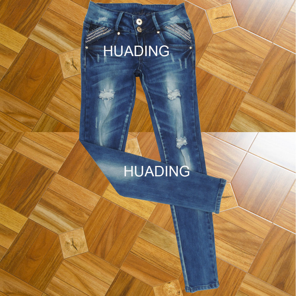 OEM Custom Newest Fashion Denim Jeans (HDLJ0042)