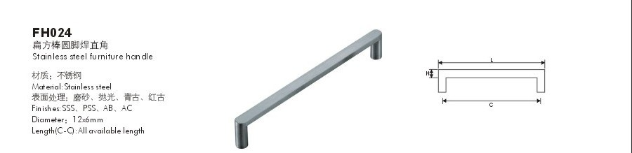 T Shape Stainless Steel Furniture Handle, Ktichen Cabinet Handles