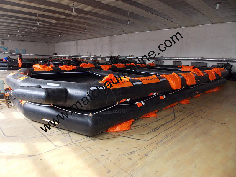 65man Open Reversible Inflatable Life Rafts