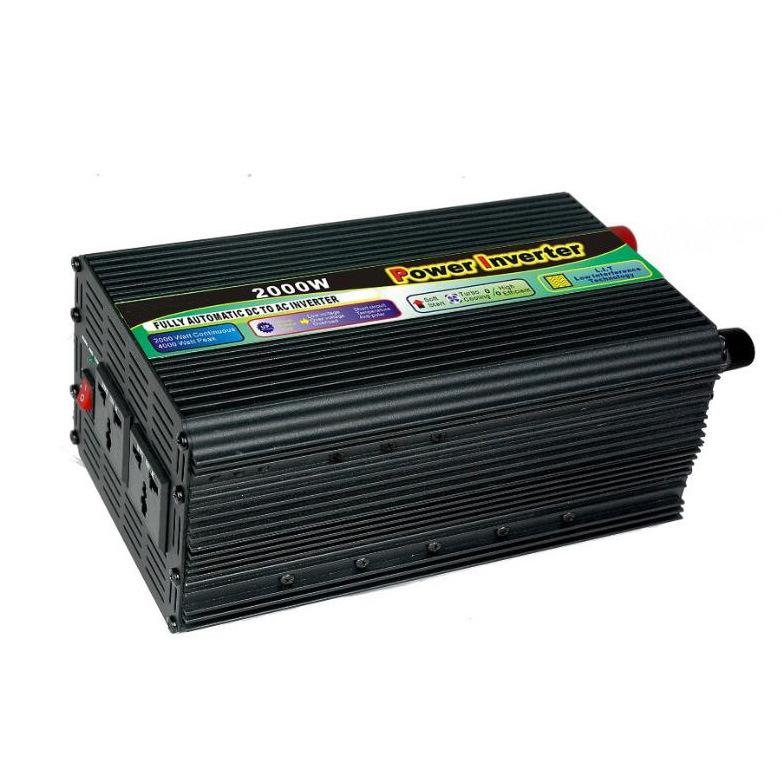 2000W DC12V/24V AC220V/110 Modified Sine Wave Power Inverter with UPS Charger