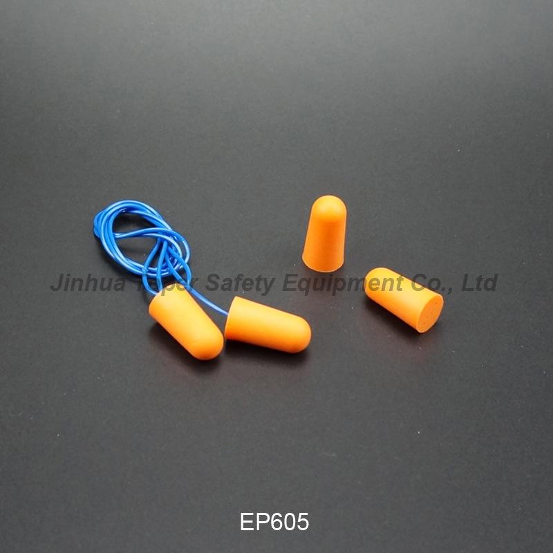 ANSI Approval Soft PU Foam Earplugs with Cord (EP605)