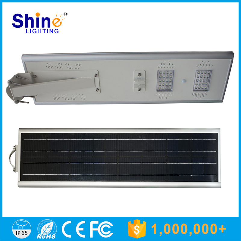 40W All in One Motion Sensor LED Solar Street Light with 3 Years Warranty Ce&RoHS Certificate