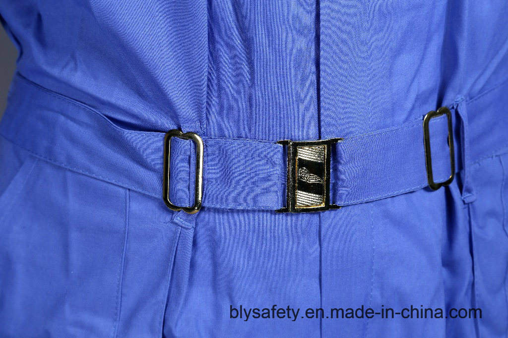 100% Polyester Cheap High Quality Dubai Safety Work Clothes (BLUE)