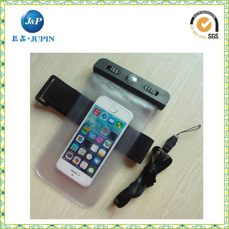 Inflatable Waterproof Mobile Phone Bag with Elastic Armband (JP-WB003)