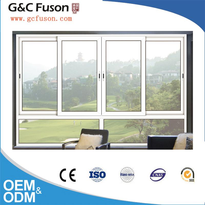 White Color Double Glazed Aluminium Horizontal Sliding Window
