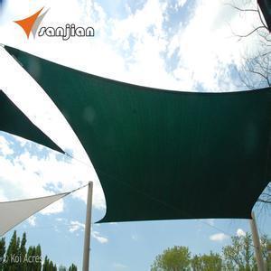 Hot Sale! 5.4X5.4m HDPE Fabric Sun Shade Sail (Manufacturer)