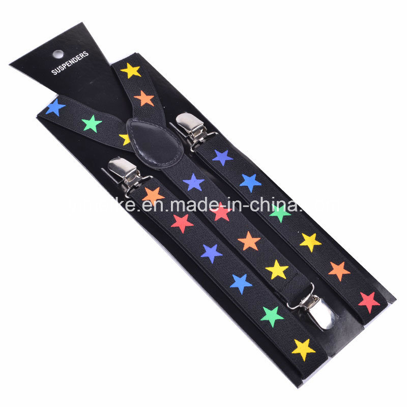 Unisex Fashion Print Y-Back Elastic Suspender 2.5*100cm (BD1009)