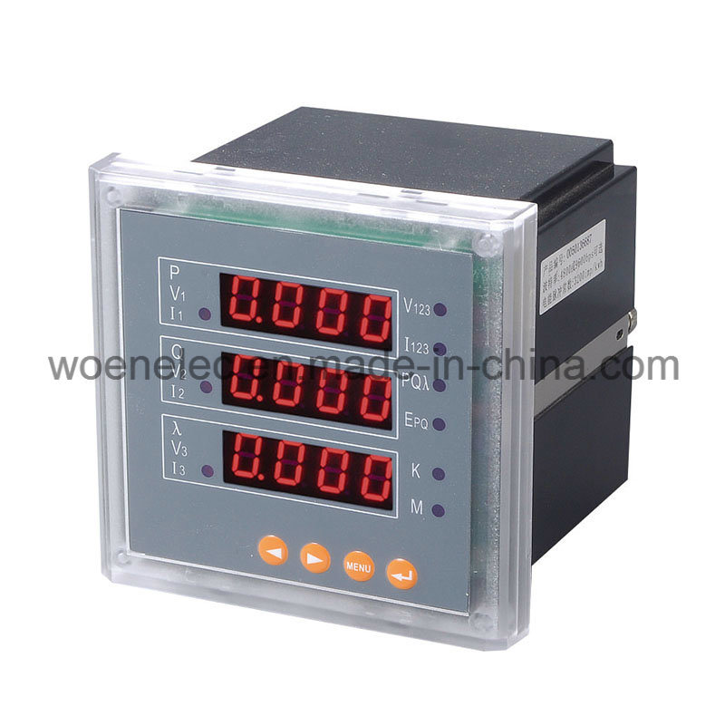 Three Phase 220V LED Display Multimeter