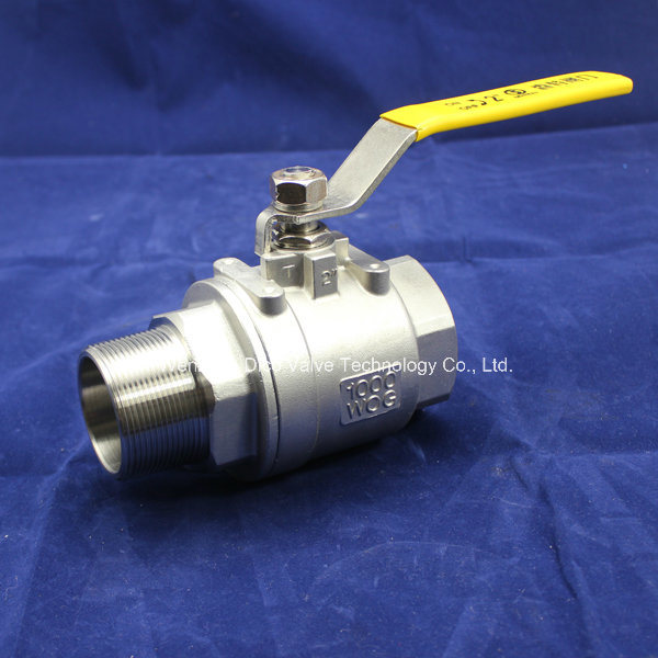 Stainless Steel 2PC Ball Valve with Female/Male Thread End 1000wog