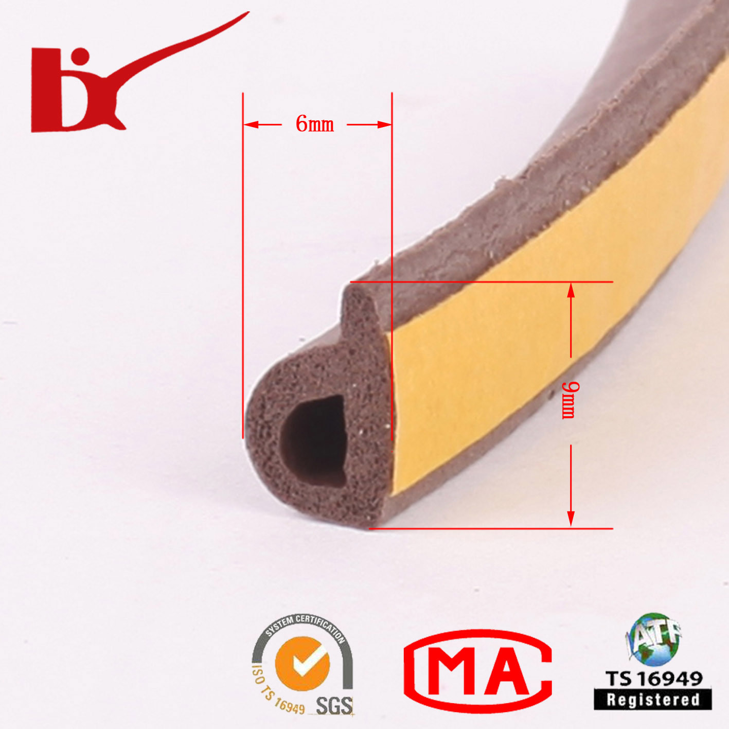 China Soundproof Rubber Dust Seal Strip For Wood Door   China Rubber Dust  Seal, Rubber Sealing Gasket