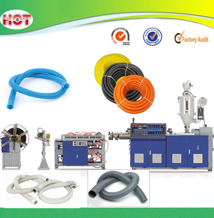 HDPE PP PVC Plastic Flexible Corrugated Pipe Extrusion Production Line