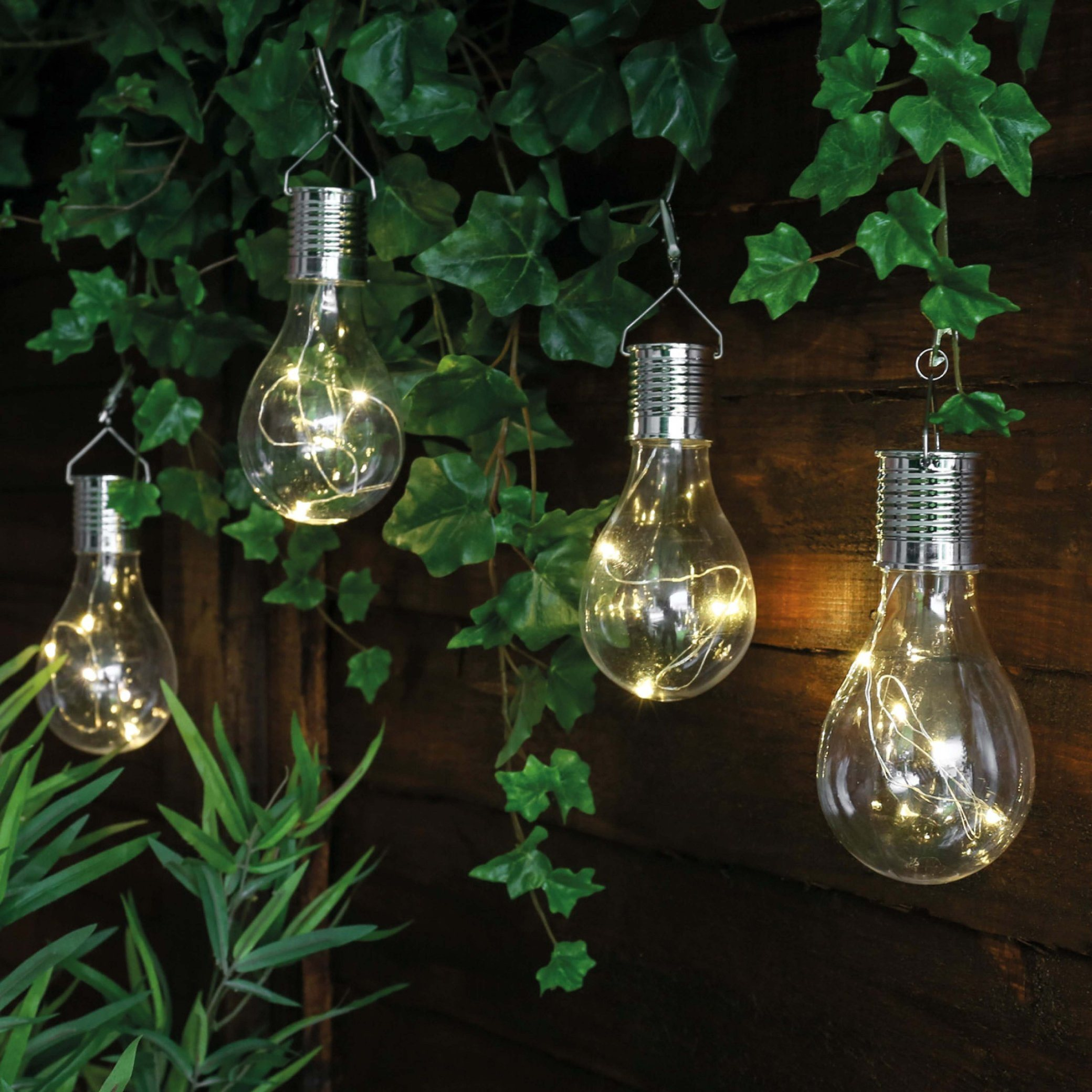 6LED Plastic Solar Hanging Festoon Bulb Light