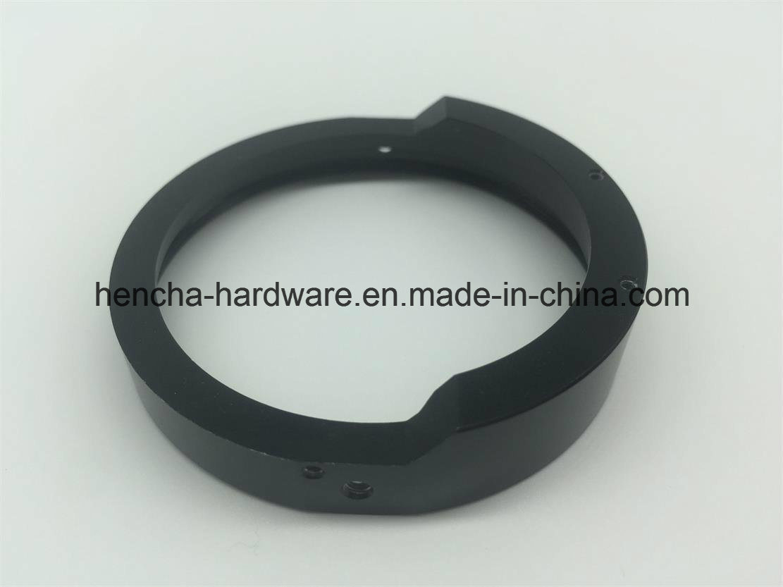 CNC Part of Aluminium Ring with Electroplate Black for Camera