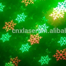Outdoor IP65 Star Motion Red/Green Eight Flower Laser Projector Showers Christmas Lights