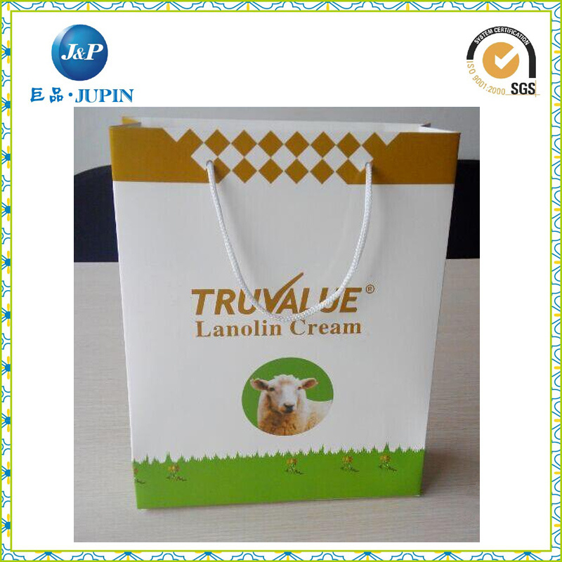 Custom Printing Luxury Black Matte Retail Paper Bag Packaging Design (JP-PB006)