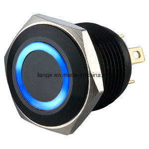New Type! ! ! Ce RoHS Industrial Waterproof Short Body 16mm Push Button Electric Metal Switch
