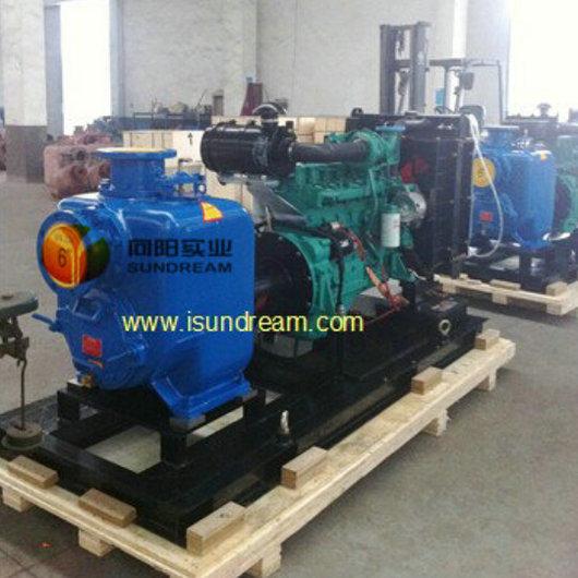 Heavy Duty Trailer Mounted Diesel Engine Self Priming Water Pump
