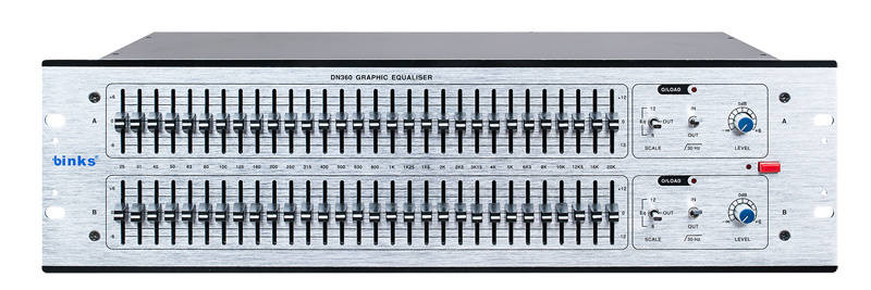 Dn360 Professional 2 Channel Stereo Graphic Equalizer Equaliser