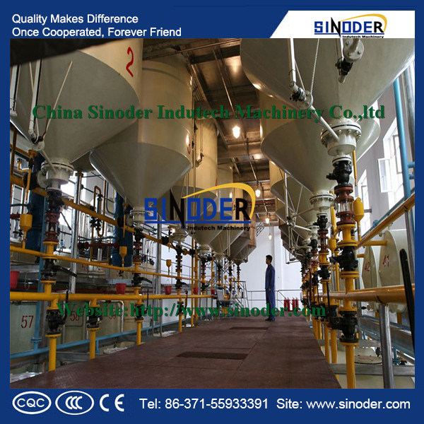 First Class Oil Production Crude Sunflower Oil Refinery Equipment with Ce