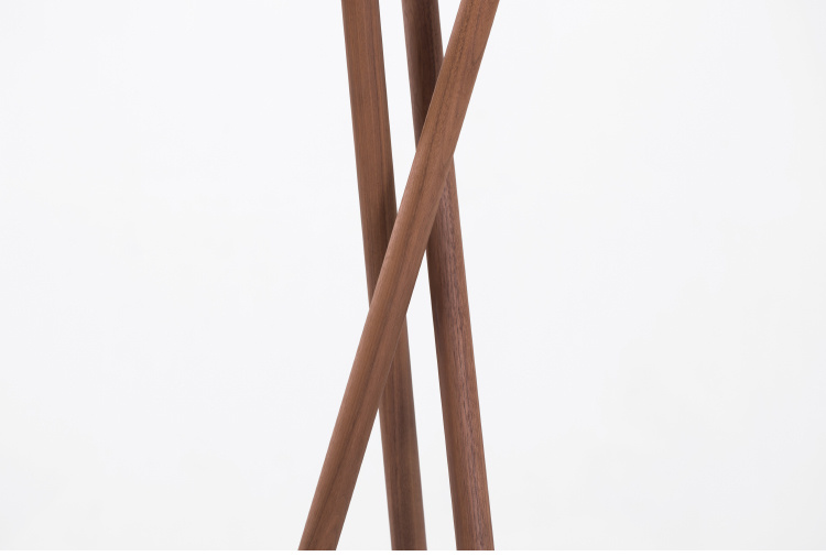 """Pretty Waist"" Walnut Coated Clothes Coat Cloth Hanger Stand"