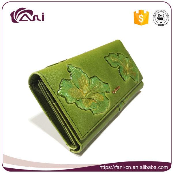 New Design Flower Embossed Leather Wallets Women Wallet