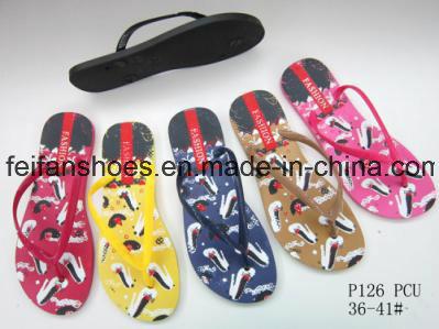 Women Flip Flops Customized PVC Slippers China Sandals Supplier (FFLT1017-02)