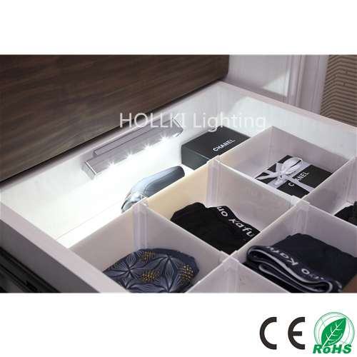 Vibration Sensor LED Drawer Light with Battery