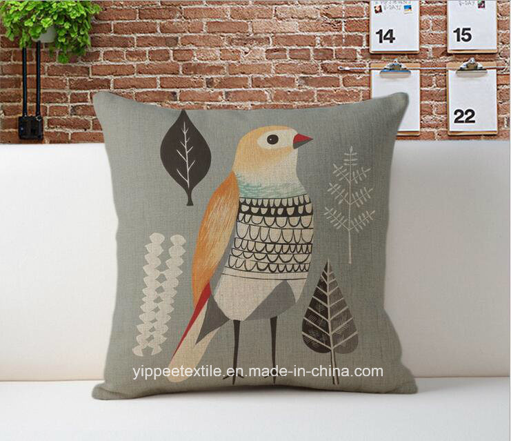 MOQ: 10pieces, Custom Printed Linen Cotton Cushion Cover, Cushion, Back Pillow