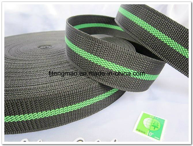450d Black Green Polypropylene Webbing