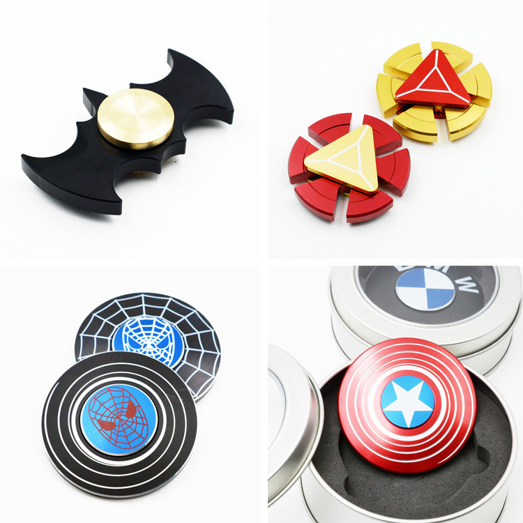 Popular Toy Iron Man Fidget Hand Spinner