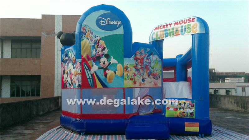 Inflatable Micky Mouse Bouncy Slide Combo, Micky Mouse Jumping Bouncer