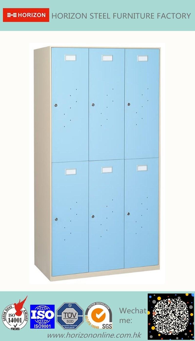 6 Doors Wardrobe Metal Furniture with Slim Edge and Index Holder /Clothespress