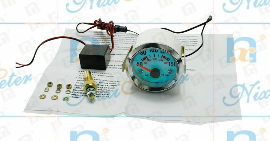 """2"""" 52mm 50-150 Water Temperature Gauge with Cold Light"""