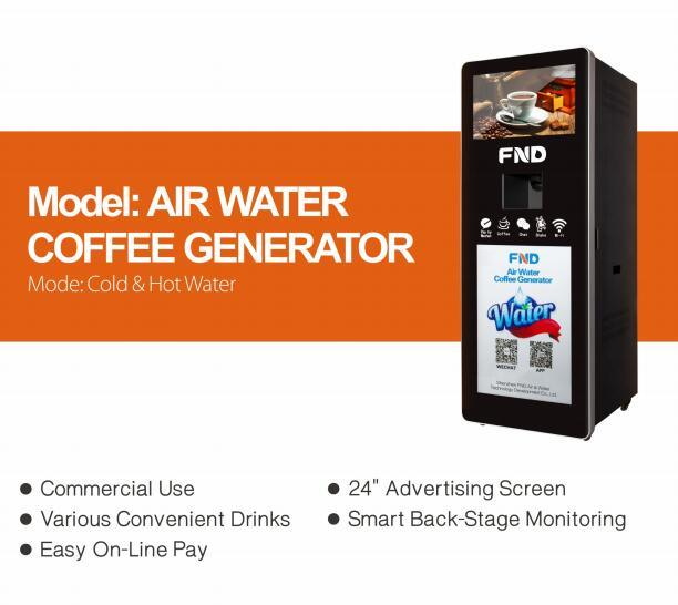 Air Water Machine Atmospheric Water Coffee Generator 100L/Day with Water Purifier
