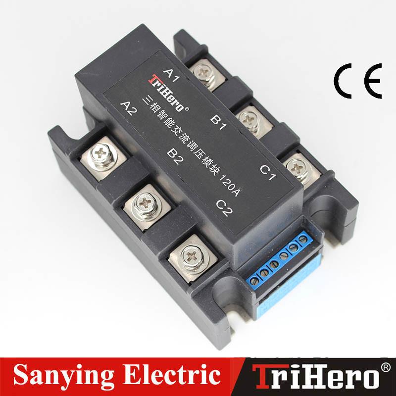 Intelligent Three-Phase AC Voltage Regulator, SSR 4-20mA, SSR 0-10V, SCR