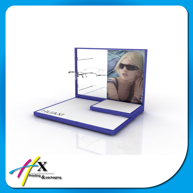 Personalized Wooden Sunglass Advertising Display Rack