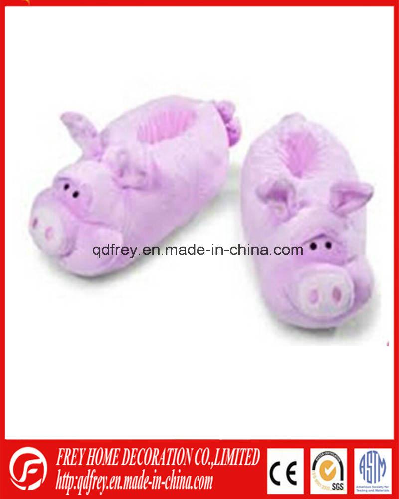 Hot Design Plush Goat Toy Warmer Slipper